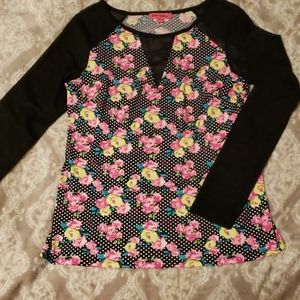 NWOT Betsy Johnson floral top
